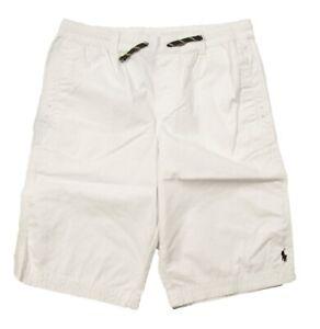 Polo Ralph Lauren Boys White Cotton Twill Pull On Shorts
