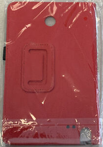 """Folio Stand PU Leather Cover Case for LG G Pad F 8.0 V495 V496 8"""" Tablet - Red"""