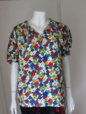 ESCADA by Margaretha Ley  Floral Print Oversized Silk Short Sleeved Top Size 34