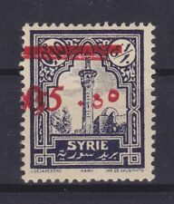 SYRIA SYRIE 1928, YVERT 188/MAURY 192b, ERROR: DOUBLE SURCHARGE, MLH