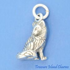 LONG HAIRED TABBY KITTY CAT KITTEN 3D 925 Solid Sterling Silver Charm Longhaired