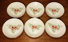 "Tudor Rose FESTIVE SEASON Coaster / bowl set of 6, 4 1/4"", Christmas, Very good"