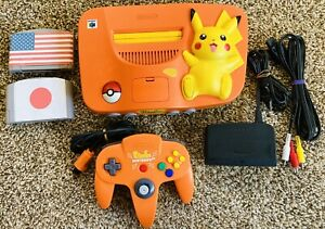 Limited Edition Orange Pikachu Nintendo 64 N64 Pokémon Console *REGION FREE*