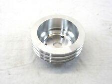 SBC Chevy Aluminum Crankshaft Long Water Pump Pulley 3 groove V-belt BPE-5016
