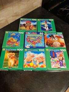 Lot Of 8 Puzzlebug Cra-z-art Puzzles Bundle,60-100 Pc,New