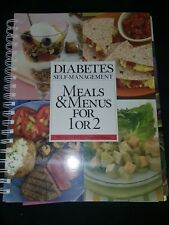 Diabetes Self-Management Meals and Menus for 1 or 2 Hollands 2005 Paperback NEW