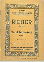Taschenpartitur : REGER ~ Streichquartett Es-dur Op. 109