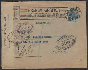 Espagne: EnveloppeRecommandée Afrt avec 50Cs tipo « Medallon » Oblt CERTIFICADO