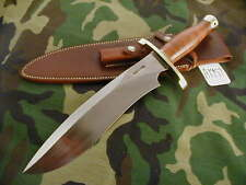 "RANDALL KNIFE KNIVES #12-11"" LG.SASQUATCH,#792,BLH,BL.-B.S,LEATHER,BB,WT  #A1957"