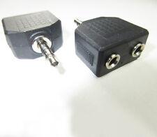 Double 3.5mm Jack Socket to 3.5mm Jack Plug Stereo Headphone Splitter / Adapter