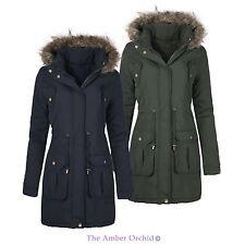 No Pattern Faux Fur Coats & Jackets Plus Size for Women