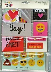 Simple Stories SN@P Pack~EMOJI LOVE~112 pieces~Really nice! Fast Ship!