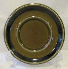 Kosmos by Arabia of Finland Saucer Plate Brown And Black Lines Dots On Green