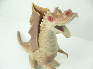 1983 Dragons and Daggers Brown Beige Winged Dragon Monster toy