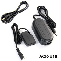 ACK-E18 DC 8V/3A AC Adapter Power Charger For Canon EOS Rebel T6i T6s T7i SL2