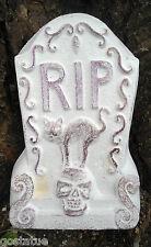 "Free standing mini Tombstone mold w/ cat poly plastic 6""H x 4""W"