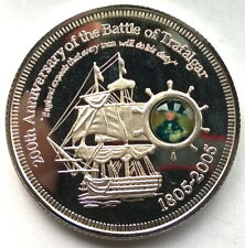 Cook 2005 Battle of The Trafalgar 5 Dollars Silver Coins,Proof
