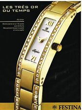 Publicité Advertising 2003 La Montre Festina