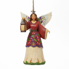Jim Shore Christmas Angel w/Lantern Hanging Ornament ~ 4042974