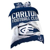 Carlton Blues AFL SINGLE Bed Quilt Doona Duvet Cover Set *NEW 2019* GIFT
