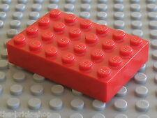 Plaque epaisse Red Brick 4 x 6 ref 2356 LEGO / Set  10018 Darth Maul Bust