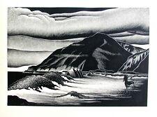 Paul Landacre Wood Engraving Campers
