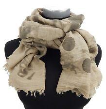 écharpe pour femmes beige marron à points usé look vintage par Ella Jonte
