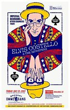 """ELVIS COSTELLO & THE IMPOSTERS """"OTHER CHAMBERS TOUR""""2017 NEW YORK CONCERT POSTER"""