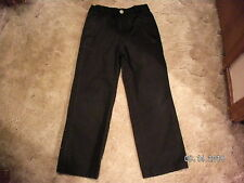 Boy's Cherokee Black Ultimate Khaki Pants Size 7 NWOT