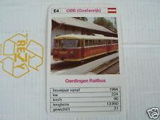24 EK LOKS E4 OBB AUSTRIA OERDINGEN RAILBUS TRAIN TREIN KWARTET KAART,