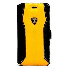 Lamborghini Huracan-D1 Yellow Leather Ultra Slim Case for iPhone 7 Plus / 8 Plus