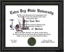 Martini Lover's Doctorate Diploma / Degree Custom made & Designed for You UNIQUE