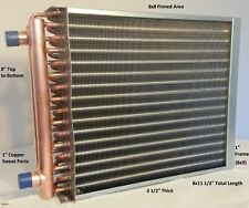 "8X8 Water to Air Heat Exchanger~1"" Copper ports w/ Ez Install Front Flange"