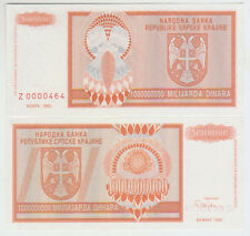 Croatia 1000000000 Dinara 1993 Pick R17r UNC Replacement