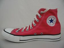 """CONVERSE ALL-STAR """"Chuck Taylor"""" Mens 7 Womens 9 High Top Shoes Sneakers RED"""