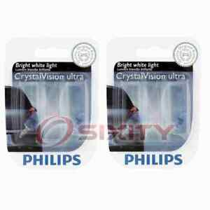 2 pc Philips Front Side Marker Light Bulbs for Saab 9-7x 2005-2009 lg