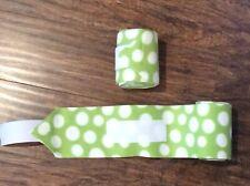Set of 2 Handmade Green & White Polka Dot Horse Polo Wraps Equestrian