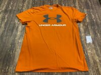 Under Armour Charged Men's Orange T-Shirt - Medium