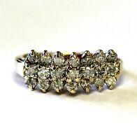 10k yellow gold .84ct I2 H diamond anniversary band ring 3.4g vintage estate