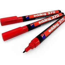 Edding 370 Permanent Marker Pen – 1mm Bullet Tip – Red – Pack of 3