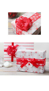 Christmas Organza Snowflake Ribbon Party Gift Wrapping Wedding Decor 1.5in x25ft