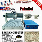 400W 4 Axis CNC 3040 Router Engraver Engraving Cutting Mill Drill Machine