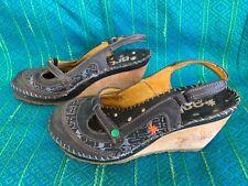 Art Wedge Slingback Blue Heels Size 5