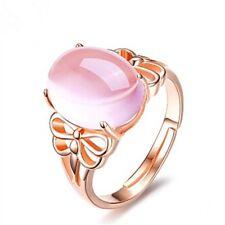 Elegant Pink Tourmaline Rings Crystal Silver Engagement Ring Fashion JewelryEleg