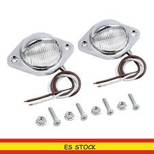 2 Luces de Placa de Matrícula LED Lámparas Traseras para Coche Remolque Camión