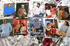 Job-lot of Vintage Knitting Patterns Mens Childrens Womans Knitting Patterns