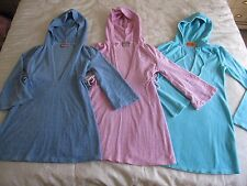 Lot Of 3 Juicy Couture Swimsuit Beach Pool Cover Up Dress Terry Cloth EUC S P