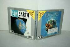 SIM EARTH THE LIVING PLANET + POPULOUS THE BEGINNING USATO PCCDROM USA GD1 50016