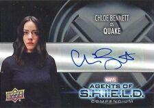Agents Of S.H.I.E.L.D. Compendium AA-BC Chloe Bennett As Quake Autograph Card!