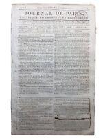 Conspiration du Général Mallet 1814 Napoléon Bonaparte Belgique Rare Journal